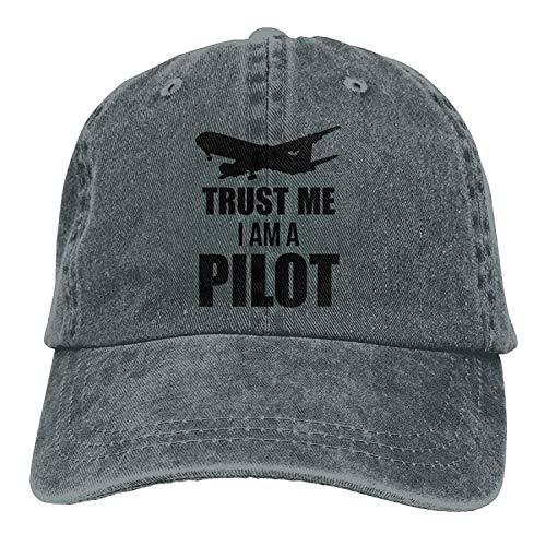 Trust Me I Am A Pilot Denim Hat Adjustable Men's Flag Baseball Hats 39 -