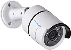LONNKY Full HD 1080P Outdoor Security Bullet Camera With IR CUT and 100ft (30m) Night Vision, 6 PCS Infrared LEDs,...