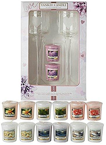 Offizielles Yankee Candle Wedding Day Geschenk-Bundle Set beinhaltet 2x Floral Ergab Halter +...
