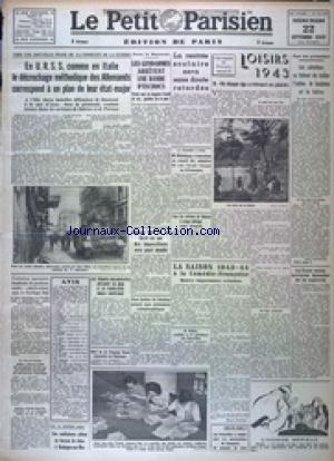 PETIT PARISIEN EDITION DE PARIS (LE) [No 24165] du 22/09/1943