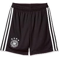 adidas Línea Selección Alemana de Fútbol Pantalones Cortos, Niños, Negro/Blanco, 128-7/8 Años