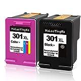 HaLuoYingKe Ersatz für Druckerpatronen für HP 301 XL 301XL Multipack für DeskJet 1000 1050 1510 2050 2510 2542 2544 2545 3050 3055a Envy 4507 5530 (1 Schwarz/1 Farbe)