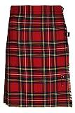 Oxfords Cashmere 100% Wolle Kurzer Kilt für Damen, Royal Stewart, 46