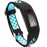 EL-move Garmin Vivofit Zubehör Strap Ersatzband Sport Straps für Garmin Vivofit 1 Generation Armband Zubehör Ersatzarmbänder (Blackblue, Free Size)