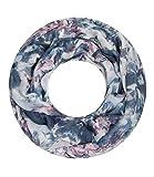 Majea NEUE Saison Damen Loop Schal viele Farben Muster Schlauchschal Halstuch in aktuellen Trendfarben (blau 17)