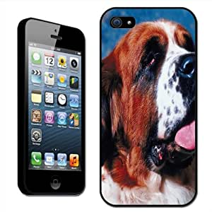 Fancy A Snuggle Saint Bernard Dog Close Up Clip On Back Cover Hard Case for Apple iPhone 5