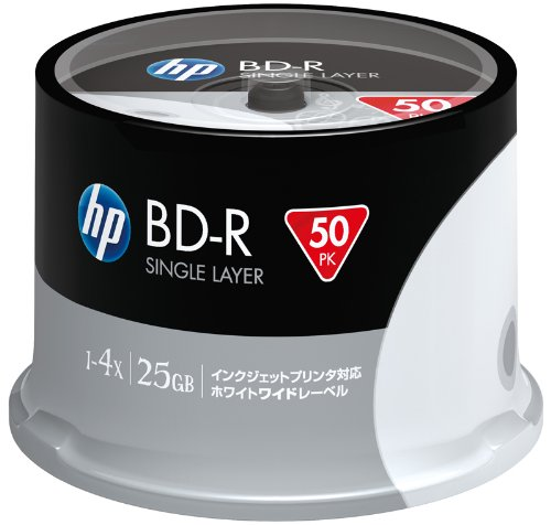 HP Blu-Ray Disc - 25GB 4X Speed BD-R / 50 Pack Spindle - Printable