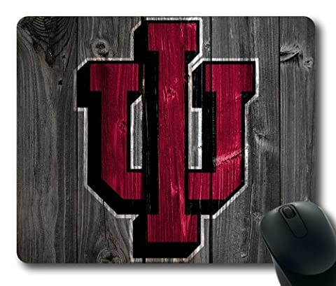 Indiana Hoosiers Wood Look Mouse Pad, Customized Rectangle Mousepad Diy By Bestsellcase