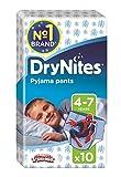 Huggies DryNites Boy hochabsorbierende Pyjamahosen Unterhosen für Jungen 4-7 Jahre, 2 Pack (2 x 3 x 10 Windeln) Vergleich