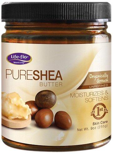 Life-Flo Pure Shea Butter Organic (Jar) 9Oz