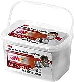 3M Safety Box 1000MC Sicherheitsbox (mit 3M Atemschutzmaske, Halbmaske, Gehörschutzstöpsel und Arbeitsschutzbrille – Sicherheitsausrüstung für Baustelle oder Werkstatt, inkl. Zubehör) klar/grau