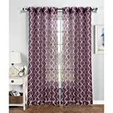 Best Window Elements Blinds - Window Elements Quatrefoil Printed Sheer Extra Wide 54 Review