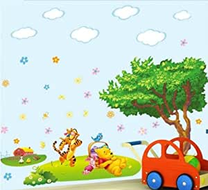 New Art Winnie the Pooh Tiger Removable Wall Sticker Decal Home Decor kids Nursery/nvkn