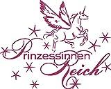 GRAZDesign 850054_57_821 Wandtattoo Aufkleber mit Swarovski für Mädchenzimmer Spruch Prinzessinnenreich (71x57cm//821 Magnolia//Swarovski Elements Set 12 Stück)