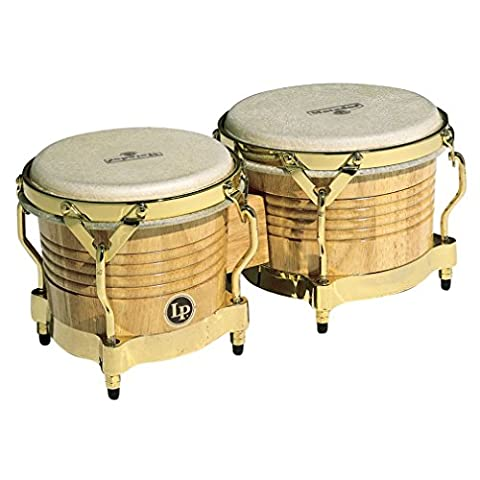Latin Percussion LP811002 Matador Wood Bongos - Natural/Gold
