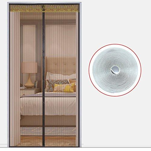 EQEQ Full Frame Klettverschluss Sommer magnetschirm Tür, Heavy Duty Mesh-Sieb Schlafzimmer Wohnzimmer Home Moskitonetz Tür Mesh Snap automatisch-Tür-H 180 x 220 cm (71 x 87 Zoll) (Snap Vor Magnetischen)
