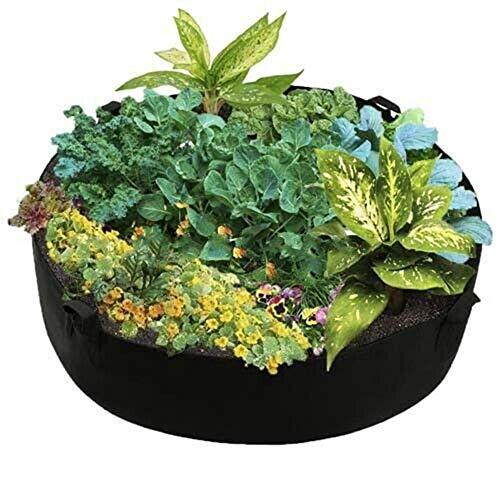 Recipientes para plantas y accesorio Bolsa de siembra de verduras no tejidas, paquete de plántulas de bolsas de cultivo de plantas de jardín de interior al aire libre con mango ( Size : 127*30cm )