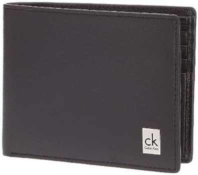 Calvin Klein Jeans Bill.7C KM0120CT500, Portefeuille homme - Noir, Cuir