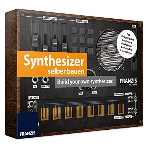 Synthesizer zum Selberbauen für Kinder ab 14 Jahren Bausatz mit Platine, Gehäuse und Handbuch • Modellbausatz Baukasten Keyboard Set Experiementier Box Kasten