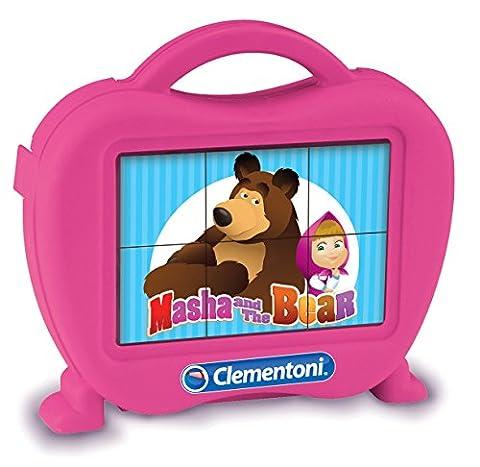 Clementoni - 40656.2 Baby Cubes 6 - Masha and The Bear