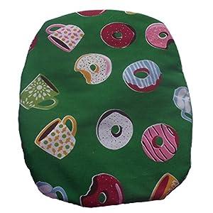 Simple Stoma Cover Ostomy Bag Cover Druckstoff Tee und Donut Emeraldgrün