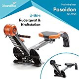 Skandika SF-1150 Regatta Multi Gym Poseidon Rowing Machine – Multi-Colour, 130 x 45 x 95 cm