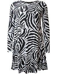 zebra kleid damen
