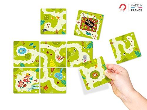 Mein Geheimer Garten Magnetic Fridge Kid Puzzle Spiel, Raus aus dem Labyrinth, 3 Spielstufen, Magnet-Kühlschrankdekoration, ideal ALS Originale Geschenkidee für Kinder, Jungen und Mädchen