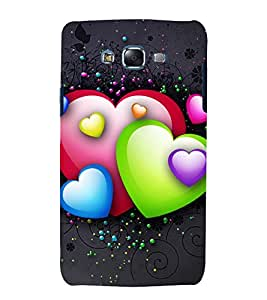 printtech Love Heart Design Back Case Cover for Samsung Galaxy A8::Samsung Galaxy A8 A800F