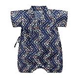 Knowin-baby body Sommer Retro Japanischer Yukata Taschen Furz Kimono Overall mit Babyspielanzug Neugeborenes Baby Mädchen Kurzarm Floral Kimono Strampler Overall Kleidung