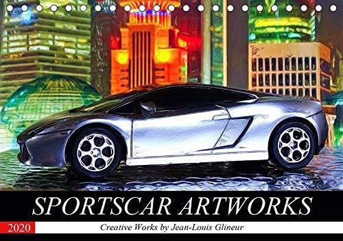 SPORTSCAR ARTWORKS Creative Works by Jean-Louis Glineur (Tischkalender 2020 DIN A5 quer): Digital Painting und Sportwagen (Monatskalender, 14 Seiten ) (CALVENDO Mobilitaet) - Jeans Cabrio