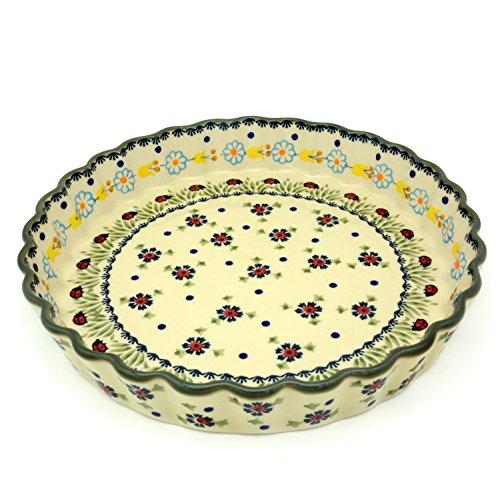 Bunzlauer Keramik Tarte-oder Quicheform 26,5 cm (Dekor Marienkäfer)