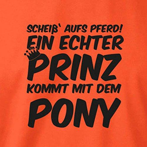 TEXLAB - Ein echter Prinz kommt mit dem Pony - Herren T-Shirt Grün