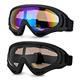 odoland adultos Gafas de esquí de grandes sphä rische Snowboard Gafas con lente magnética intercambiable & OTG (over the glass/para gafas) Protección UV400 y antivaho y
