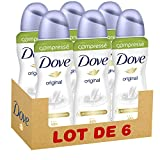 Dove Déodorant Femme Spray Anti Transpirant Original Compressé 100ml - Pack de 6