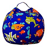 Stofftier Kuscheltiere Aufbewahrung Aufbewahrungstasche Sitzsack Kinder Soft Pouch Stoff Stuhl (One Size, F)