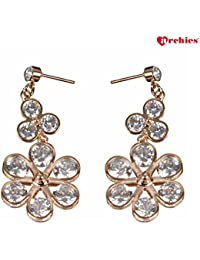Archies Fashion Jewellery Summer Special Stylish Fancy Earrings With White Stone For Girls And Women | Gift