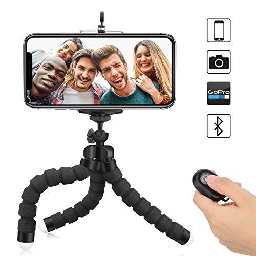 Handy-Stativ Flexible Kamera-Stative Mini tragbare leichte Ständer Inhaber + Bluetooth Re