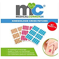 Medicalcorner24 Kinesiologie Gittertape, 102 Cross-Patches inkl. Pinzette, Gitterpflaster, Akupunktur-Pflaster... preisvergleich bei billige-tabletten.eu