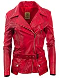 Damen Designer Ultra Stilvolle Super Weiche 100% Echte Leder Gürtel Biker Mode Jacke Von MDK