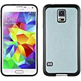 JAMMYLIZARD | Back Cover für [ Samsung Galaxy S5 & S5 Neo ] Glitzernde Hülle aus Silikon, SILBER-BLAU