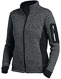 FHB Marieke 79596 Strick-Fleece-Jacke Damen anthrazit-schwarz L