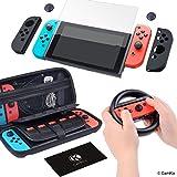 Kit de Nintendo Switch: 1x Étui en Nylon Rigide avec 20 Insertions de Jeu, 1x...