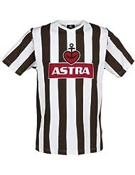 St Pauli Traditions Shirt 'Astra' - braun/weiß