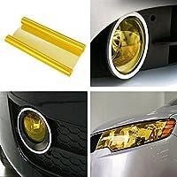 SKS Distribution® - Vinilo para faros de coche, autoadhesivo, impermeable, 100 x 30cm, color amarillo