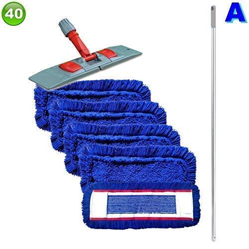 Set mit 5 Wischmopp Wischmop Acryl Industriequalität waschbar in 40 50 60 80 cm (40 cm)