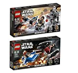 Lego Star Wars Set: 75195 Ski Speeder vs. First Order Walker Microfighters + 75196 A-Wing vs. TIE Silencer Microfighters