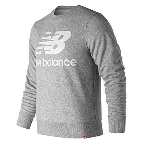 New Balance Herren mt91548 Rundhalsausschnitt Sweatshirt, Herren, MT91548, Grau - Athletic Grey, XL (Balance-performance New)
