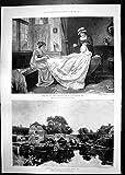 Antiker Druck von Eve König John Laird C Smith 1898 Heiratend G Kilburne Brandon Brücken-Y