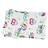 """Bedding Set Quilt /Duvet Pillow for pram cot crib Fits Up to 46cm /18"""" Doll Dolls Teddy (white owl)"""